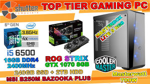 TOP TIER GAMING PC ROG STRIX 8GB i5 6th Gen