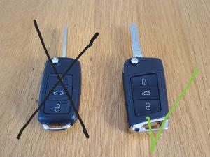Kljuc VW Skoda Seat konverzija oklop Golf