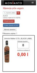 Aplikacija za mjerenje pića vagom