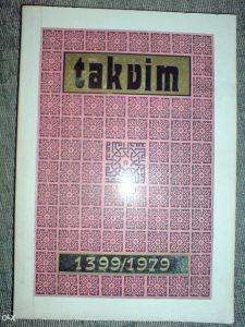 TAKVIM 1399 / 1979 *** R A R I T E T ***