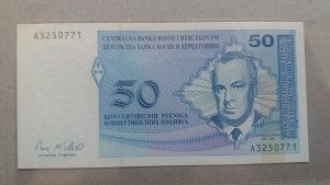 BiH 50 pfeniga 1998 unc Skender Kulenović