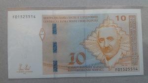 BiH 10 maraka 2012 unc Aleksa Šantić