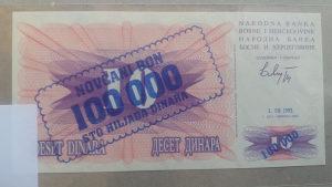BiH 100 000 dinara 1993 UNC