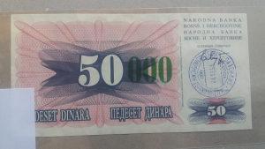 BiH 50 000 dinara UNC (24.12.1993. Sarajevo)