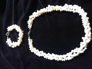 Ogrlica merdzani i narukvica i ogrlica biseri