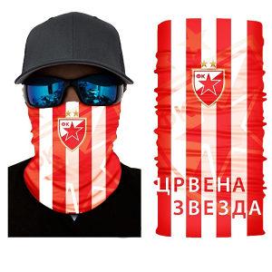 Crvena Zvezda Navijačka Maska Marama Skarf Potkapa