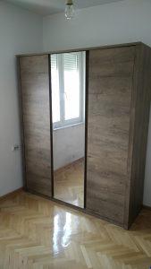 Ormar 166x197cm sa ogledalom - divlji hrast