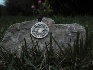 Magicni Solomonov Heksagram talisman ogrlica