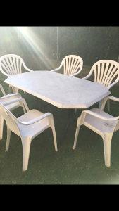Vrtni stol i 6 stolica