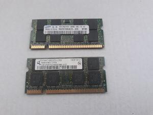 Ram Memorija 2 Gb - DDR2 za Laptop - 2 x po 1 Gb