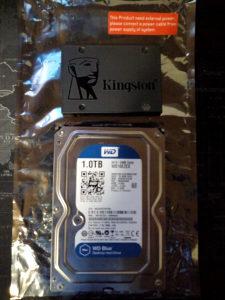 Kingston SSD 120GB WD HDD 1TB