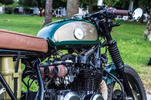 Kawasaki cafe racer motor oldtimer