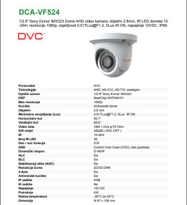 DVC Kamera 2.0 Mp 1080P Full HD
