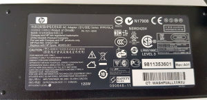 ADAPTER-PUNJAC ZA HP LAPTOP 18.5 V,6.5 A,120 W -iglica