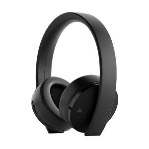 PS4 Wireless Gold Headset Black - Playstation