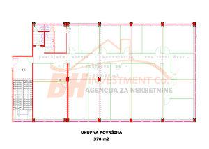 Višenamjenski poslovni prostor 370 m2 Irac Tuzla