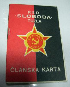 Stara članska karta RSD Sloboda Tuzla iz 1976 godina