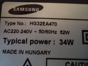 SAMSUNG   HG32EA470 ( za  dijelove)