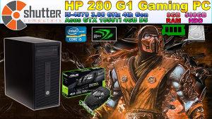HP 280 G1 Gaming PC - i5 4th Gen 1050Ti 4GB