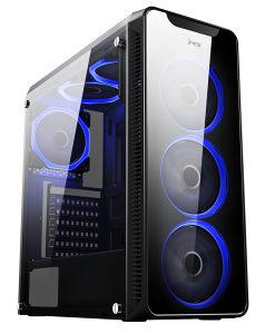 MS AQUARIUS PRO Gaming Case RGB USB 3.0 Novo!!!