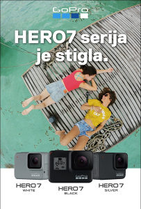 GoPro KAMERA HERO7 BLACK (4K Hero 7) Go Pro CHDHX-701