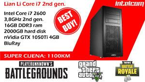 GAMING RAČUNAR LIAN LI Core i7, 16 Gb RAM, GTX 1050Ti