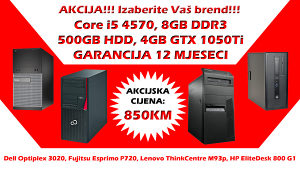 GAMING RAČUNAR Core i5 4570 GTX 1050Ti