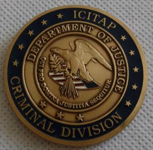 Medalja Amblem Američkog ministarstva pravde ICITAP