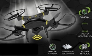 DRON MS MS BLACK FORCE HD CAM GPS QUADCOPTER