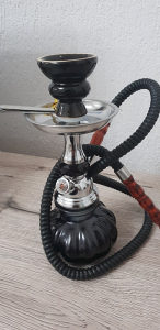 Mala nargila / shisha / 1 izlaz - crna