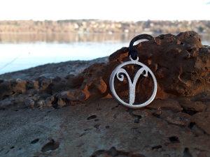 Horoskopski znak ovan ogrlica,Ovan zodiak nakit