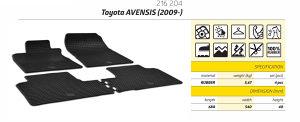 Gumene patosnice Toyota Avensis 2009+