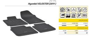 Gumene patosnice Hyundai Veloster 2011-2018