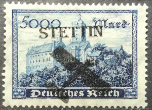 Njemacki Rajh Stettin Avio Posta