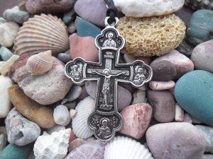 Pravoslavni crkveni krst ogrlica,Srpski krst