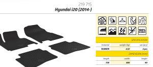 Gumene patosnice Hyundai i20 2014-2018