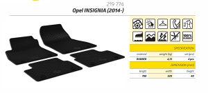 Gumene patosnice Opel Insignia 2014-2018