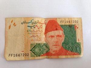 20 pakistanskih rupija