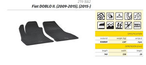 Gumene patosnice FIAT Doblo 2 2009-2018 teretni