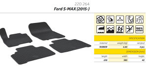 Gumene patosnice Ford S MAX 2015+