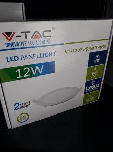 V-TAC LED PANEL 12W 4500K OKRUGLI