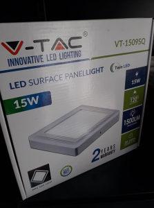 V-TAC LED PANEL 15W 4500 KVADRATNI