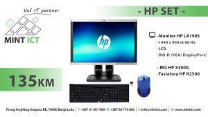- HP Set - Monitor LA1905/Tastatura K2500/Miš X3000/