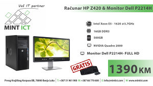 Računar HP Z420 & Monitor Dell P2214H