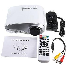 "Mini LCD LED Projektor HD 1080P / 50 000 sati / 100"""