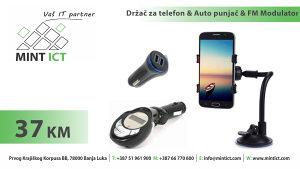 Auto punjač & FM modulator & Držač telefona