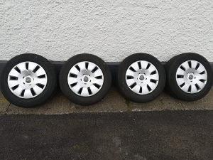 Felge celicne 5x112 16-ke Audi, gume Continental