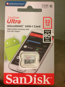 Micro SD 32gb SanDisk 80MB/s