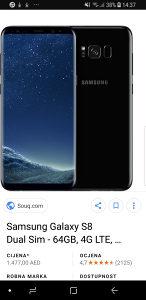 Samsung s8 black