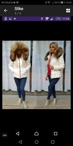 Ženska zimska sportska jakna sa prirodnim krznom M